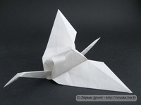Origami Crane - transformed by Jun Maekawa on giladorigami.com