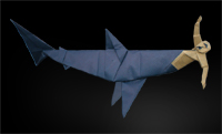 Origami Shark attack 3 by Fernando Gilgado Gomez on giladorigami.com