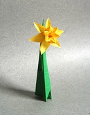 Origami Daffodil by Ted Norminton on giladorigami.com
