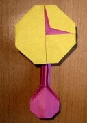 Origami Tick-tock clock by Robin Glynn on giladorigami.com
