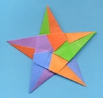 Origami Pentagonal star by David Brill on giladorigami.com