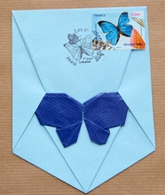 Origami Butterfly envelope by Michel Grand on giladorigami.com