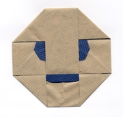 Origami Face envelope by Michel Grand on giladorigami.com