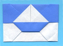 Origami Sailboat envelope by Michael G. LaFosse on giladorigami.com