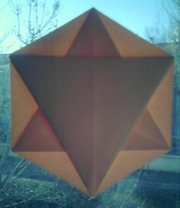 Origami X ray hex-star env by Michel Grand on giladorigami.com