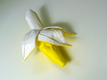 Origami Banana by Andrew Hudson on giladorigami.com
