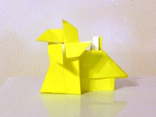 Origami House and windmill by Andrew Hudson on giladorigami.com