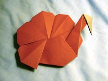 Origami Turkey (2D) by Andrew Hudson on giladorigami.com
