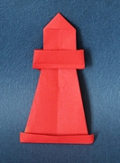 Origami Lighthouse by Milada Bla