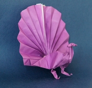 Origami Peacock by Adolfo Cerceda on giladorigami.com