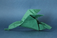 Origami Duck in flight by Pasquale d