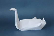 Origami Swan by John Montroll on giladorigami.com