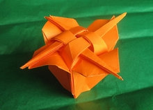 origami instructions art and craft ideas: origami flower box | 159x220