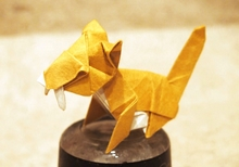Origami Saber tooth tiger by Xin Can (Ryan) Dong on giladorigami.com