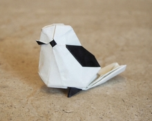 Origami Long tailed tit by Katsuta Kyouhei on giladorigami.com