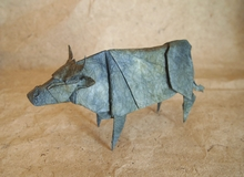 Origami Cattle by Yoo Tae Yong on giladorigami.com