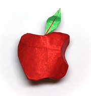 Origami Apple logo by Oscar Osorio on giladorigami.com