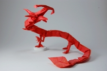 Origami Chinese dragon by Matt LaBoone on giladorigami.com