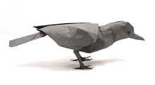 Origami Crow by Tsuda Yoshio on giladorigami.com