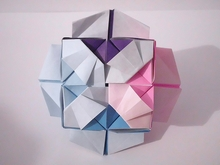 Origami Saturn cube by Byriah Loper on giladorigami.com