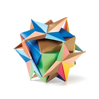 Origami Compass cube by Ekaterina Lukasheva on giladorigami.com