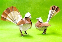 Origami Bird of origami by Sergio L. Guarachi Veliz on giladorigami.com