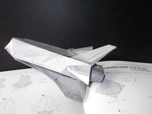 Origami Space Shuttle by Fumiaki Kawahata on giladorigami.com