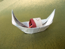 Origami Sampan by Manuel Sirgo on giladorigami.com