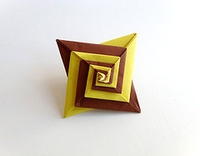 Origami Modular spiral by Tomoko Fuse on giladorigami.com