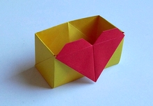Origami Box with heart by Francesco Mancini on giladorigami.com
