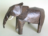 Origami Elephant by Lionel Albertino on giladorigami.com