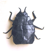 Origami Scarab beetle by Lionel Albertino on giladorigami.com