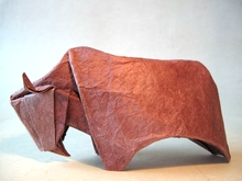 Origami Bison by Giang Dinh on giladorigami.com