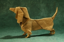 Origami Dachshund by Steven Casey on giladorigami.com