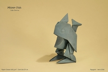 Origami Mr. fish by Joao Charrua on giladorigami.com