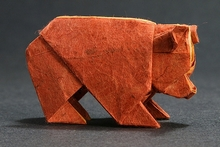 Origami Bear - square by Edwin Corrie on giladorigami.com