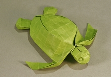 Origami Leatherback turtle by Pasquale d