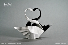 Origami Two swans by David Derudas on giladorigami.com