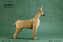 Origami Great Dane by Richard Galindo Flores on giladorigami.com