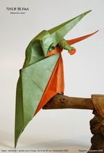 Origami Kingfisher with fish - feast of the king by Sebastien Limet (Sebl) on giladorigami.com