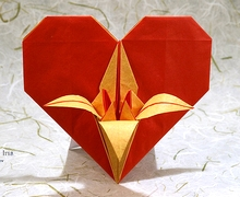 Origami Heart with iris by Andrey Lukyanov on giladorigami.com