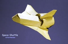 Origami Space shuttle by Nick Robinson on giladorigami.com