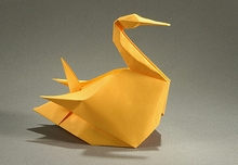 Origami Northern gannet by Gerard Ty Sovann on giladorigami.com