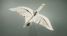 Origami Greylag goose in flight by Gerard Ty Sovann on giladorigami.com