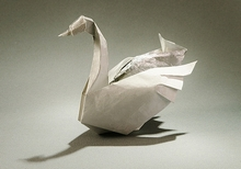 Origami Greylag goose - resting by Gerard Ty Sovann on giladorigami.com