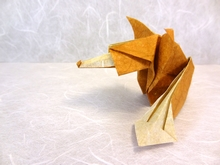 Origami Fox by Sebastien Limet (Sebl) on giladorigami.com