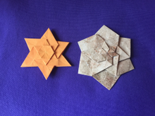 Origami 6 point recursive star by Jorge E. Jaramillo on giladorigami.com