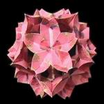 Origami Cherry blossom ball for Princess Masako by Toshikazu Kawasaki on giladorigami.com