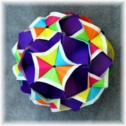 Origami Flowered sonobe by Meenakshi Mukerji on giladorigami.com