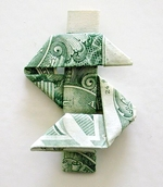 Origami Dollar sign by Andrew Anselmo on giladorigami.com